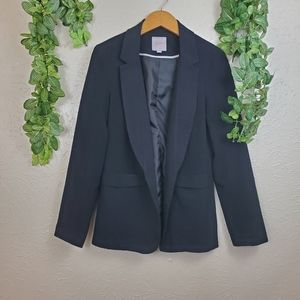 Candie's black notched lapel blazer with pockets